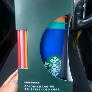 NWT Starbucks Colour Changing Cups Pack of 5 NEW